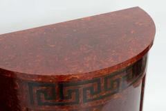 Samuel Marx Fine Pair of Faux Tortoise and Ebonized Demilune Cabinets Samuel Marx - 389266