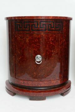 Samuel Marx Fine Pair of Faux Tortoise and Ebonized Demilune Cabinets Samuel Marx - 389267