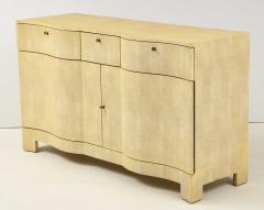 Samuel Marx Large Two Door Chest in the style of Samuel Marx in Faux Shagreen - 1529732
