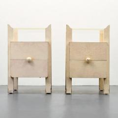 Samuel Marx Pair of Samuel Marx End Tables Nightstands - 1383559