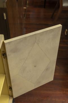Samuel Marx Samuel Marx Style Parchment Clad Cabinet - 1089273