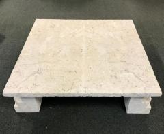 Samuel Marx Samuel Marx style of Natural Coquina Stone Coffee Table - 1903819