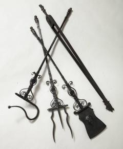 Samuel Yellin Important Set of Four Bronze and Wrought Iron Firetools - 656304