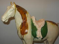 Sancai Glazed Pottery Horse with Western Attendant - 304149