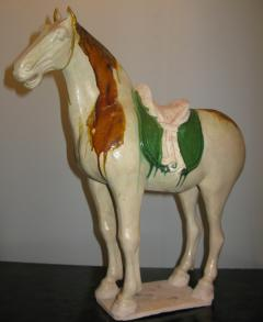 Sancai Glazed Pottery Horse with Western Attendant - 304151