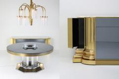 Sandro Petti Brass And Marble Credenza by Sandro Petti for Maison Jansen 1970s - 1226280