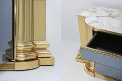 Sandro Petti Brass And Marble Credenza by Sandro Petti for Maison Jansen 1970s - 1226281