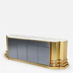 Sandro Petti Brass And Marble Credenza by Sandro Petti for Maison Jansen 1970s - 1226695