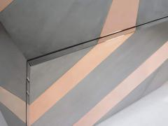 Sandro Petti Geometric metal cabinet - 1143811