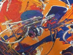 Sandro Von Lorsch Blue Orange Abstract Expressionist - 1177223