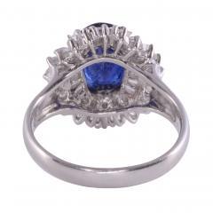 Sapphire Diamond Platinum Ring - 2139374
