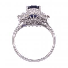 Sapphire Diamond Platinum Ring - 2139377