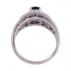 Sapphire Diamond Platinum Ring - 2146972