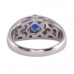 Sapphire Diamond Platinum Ring - 2146973