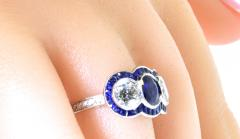 Sapphire and Diamond Ring - 1201250