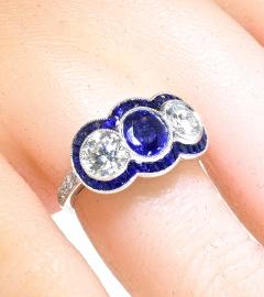 Sapphire and Diamond Ring - 1201251