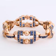 Sapphire and Gold Bracelet by G belin - 1180337