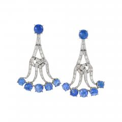 Sapphires and Diamond Earrings - 858829