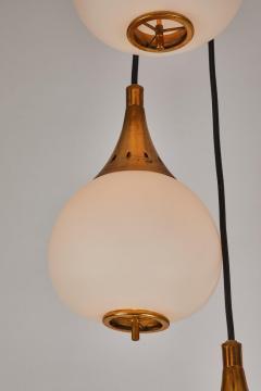 Sarfati Stilnovo 1950s bruno chiarini brass and glass chandelier for stilnovo - 1148233