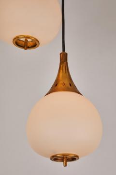 Sarfati Stilnovo 1950s bruno chiarini brass and glass chandelier for stilnovo - 1148238