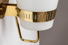 Sarfati Stilnovo Large 1950s Stilnovo Brass and Glass Sconce - 1167567