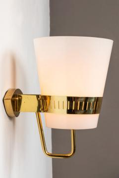 Sarfati Stilnovo Large 1950s Stilnovo Brass and Glass Sconce - 1167568