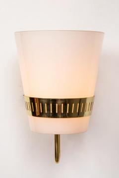 Sarfati Stilnovo Large 1950s Stilnovo Brass and Glass Sconce - 1167570