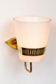 Sarfati Stilnovo Large 1950s Stilnovo Brass and Glass Sconce - 1167573