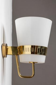Sarfati Stilnovo Large 1950s Stilnovo Brass and Glass Sconce - 1167574