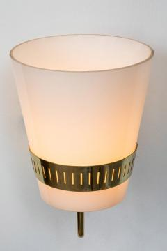 Sarfati Stilnovo Large 1950s Stilnovo Brass and Glass Sconce - 1167575
