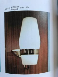 Sarfati Stilnovo Large 1950s Stilnovo Brass and Glass Sconce - 1167576