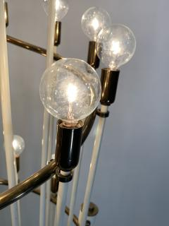 Sarfati Stilnovo MONUMENTAL MID CENTURY BRASS AND WHITE ENAMEL SPIRAL FLOOR LAMP - 1032362