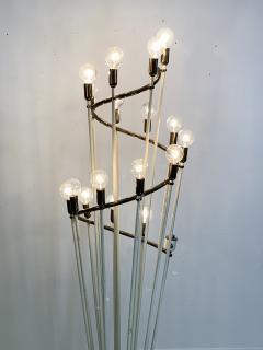 Sarfati Stilnovo MONUMENTAL MID CENTURY BRASS AND WHITE ENAMEL SPIRAL FLOOR LAMP - 1032366