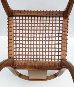 Saridis of Athens T H Robsjohn Gibbings Klismos Chair for Saridis of Athens in Walnut and Leather - 1847037