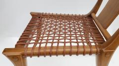 Saridis of Athens T H Robsjohn Gibbings Klismos Chair for Saridis of Athens in Walnut and Leather - 1847040