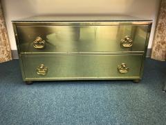 Sarried Hollywoood Regency brass chest - 1004659