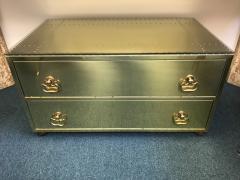 Sarried Hollywoood Regency brass chest - 1004660