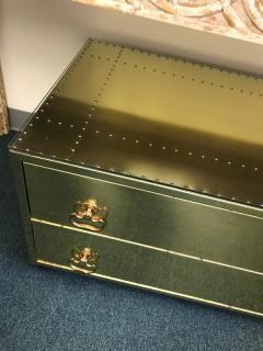 Sarried Hollywoood Regency brass chest - 1004661