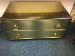 Sarried Hollywoood Regency brass chest - 1004662