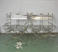 Savonarola Style Steel Dining Chairs - 1132780
