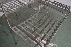 Savonarola Style Steel Dining Chairs - 1132783