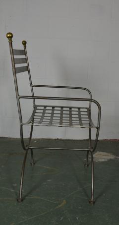 Savonarola Style Steel Dining Chairs - 1132785