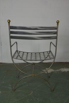 Savonarola Style Steel Dining Chairs - 1132788