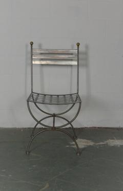Savonarola Style Steel Dining Chairs - 1132789