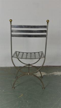 Savonarola Style Steel Dining Chairs - 1132790