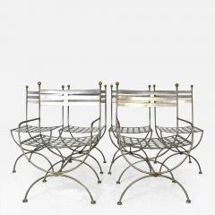 Savonarola Style Steel Dining Chairs - 1133386
