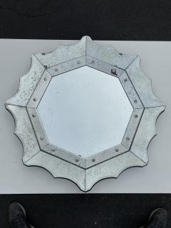 Scalloped Antiqued Glass Venetian Style Mirror - 1303006