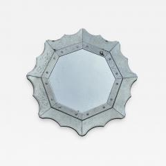 Scalloped Antiqued Glass Venetian Style Mirror - 1304160