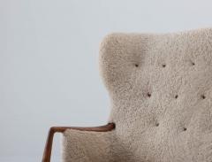 Scandinavian Midcentury Sheepskin Sofa Loveseat 1940s Denmark - 1620129