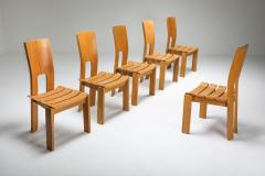 Scandinavian Modern Dining Chairs Set of Six 1970s - 1566199